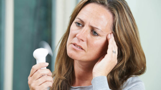 Menopausal symptoms can be a factor in quality of life for breast cancer survivors.